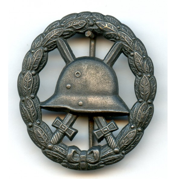 WW1 wound badge in black, cut out example