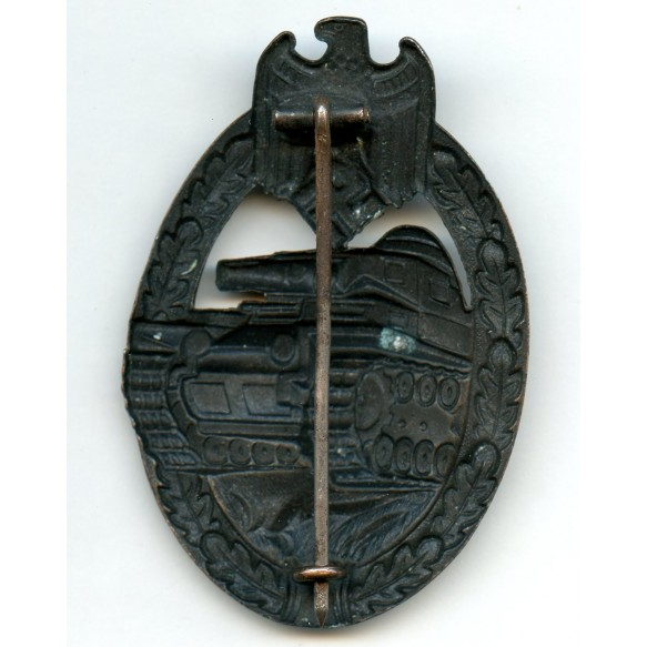 Panzer assault badge in bronze by Dr. Francke & Co
