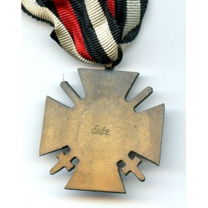 "1914-1918 Honour cross with swords by ""Elbe"""