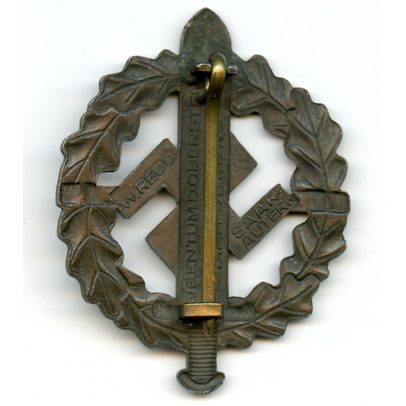 SA sport badge in bronze by W. Redo