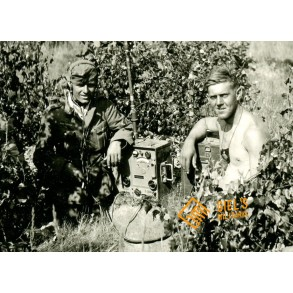 Private snapshot signal troops in the field