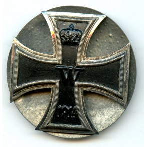 WW1 Iron cross 1st class with screwback device, 4 screws