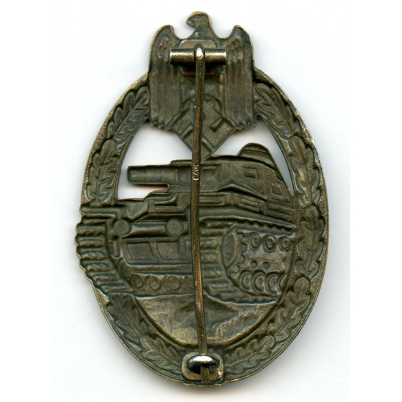 "Panzer assault badge in bronze by Petz & Lorenz ""L/18"""