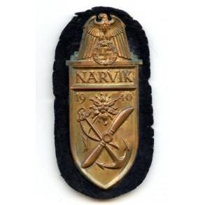 Kriegsmarine Narvik shield, cupal