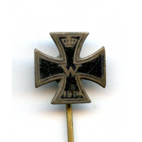 WW1 Iron cross 1st class miniature with enamelled surface