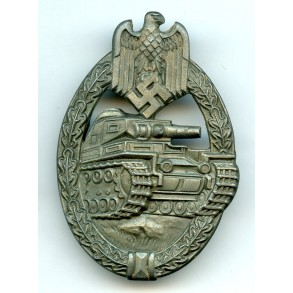Panzer assault badge in bronze by A. Rettemaier