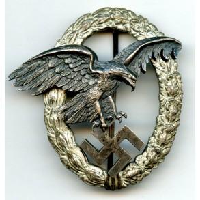 """Luftwaffe observer badge by C.E. Juncker """"J1"""""""
