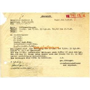 """Receipt SS """"Landwacht Niederlande"""", Vught 1943!"""