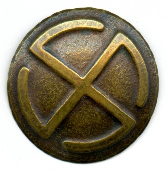 Civil broach with swastika