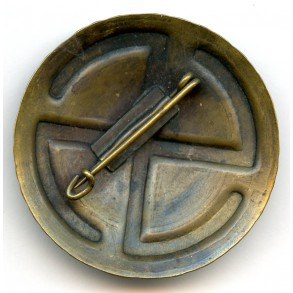 Civil broach with swastika