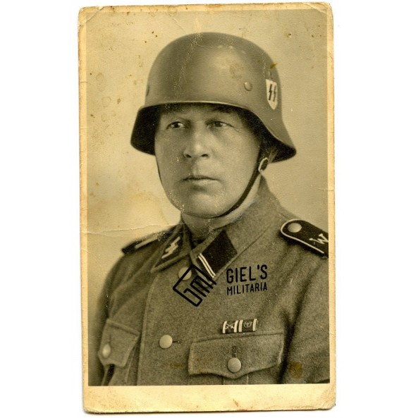 "Portrait SS ""Westland"" with helmet and NSDAP service award!"