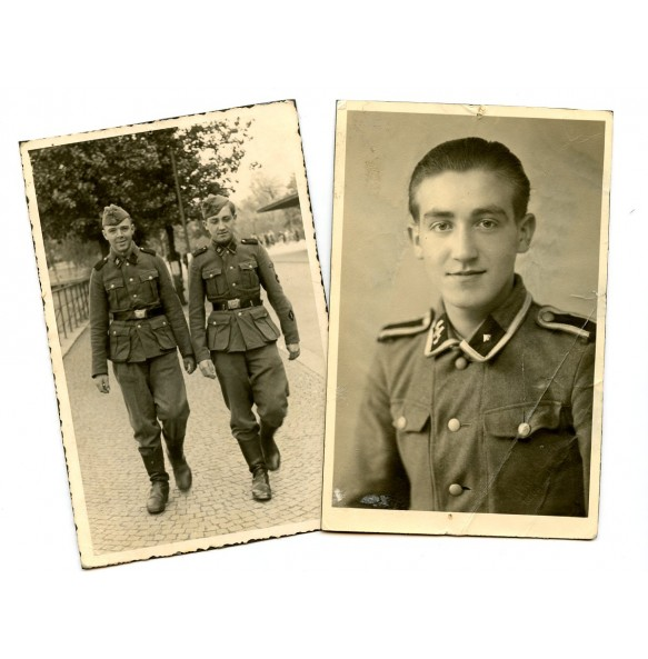Portrait and private photo SS NCO/Oberschütze