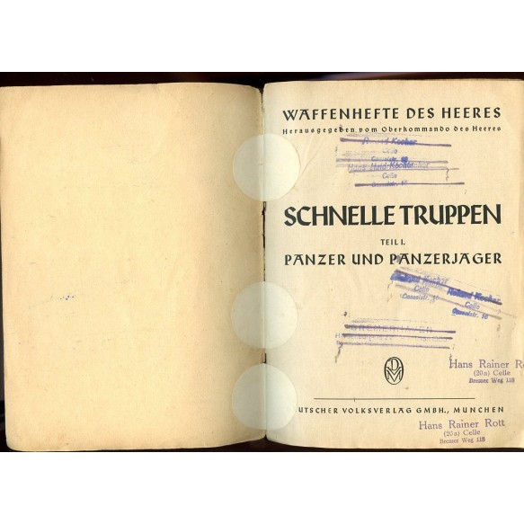 """Panzer """"Schnelle Truppen"""" propaganda booklet"""