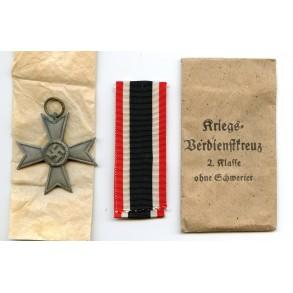 """War Merit Cross 2nd class by J. Maurer """"75"""" + package"""