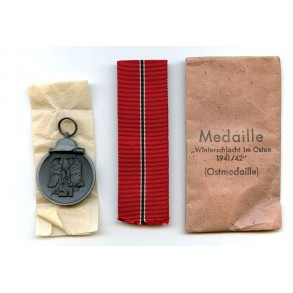 East front medal by J. Maurer, Oberstein + package