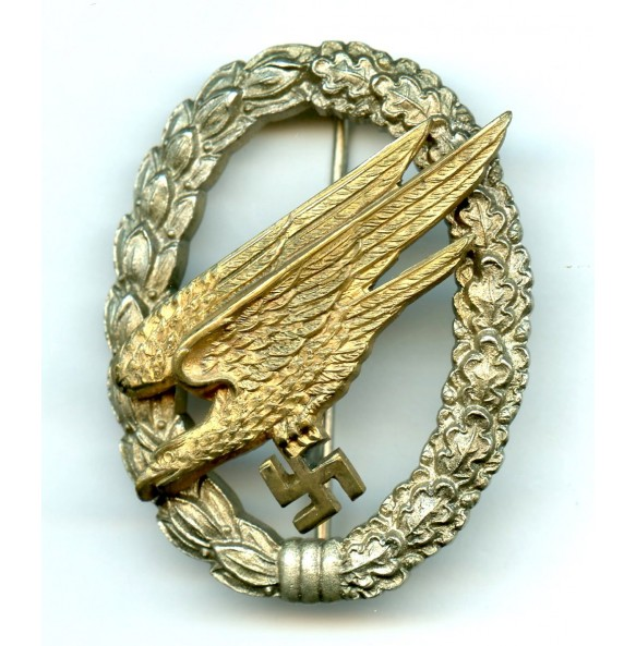Luftwaffe paratrooper badge by JMME & Sohn