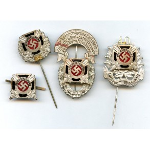 Reichstreubund membership pins lot by J.C. Gante
