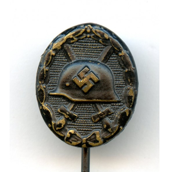 Wound badge in black 16mm miniature, hollow back!