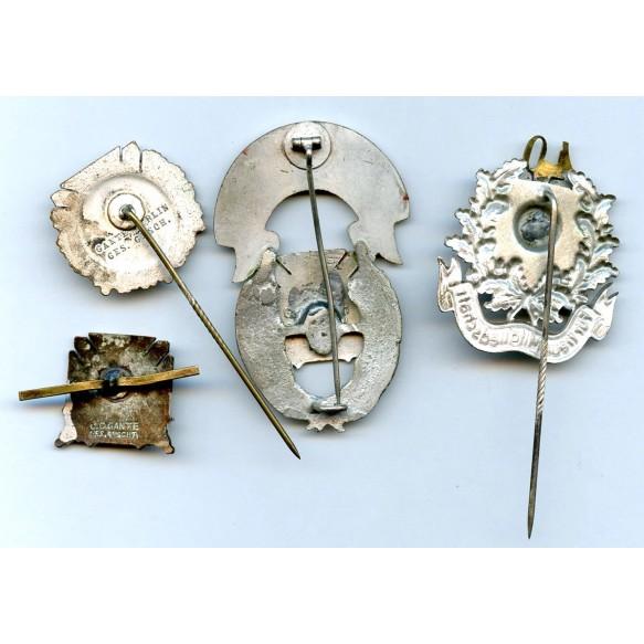 Reichstreubund membership pins lot by J.C. Gante