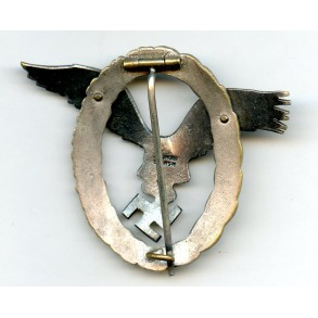 "Luftwaffe pilot badge by C.E. Juncker ""J1"""
