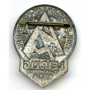 "SA 1934 tinnie ""Brig. Aufmarsch Brigade 35, Leipzig 13-14.10.1934"""