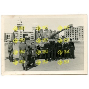 Private snapshot LSSAH with Tiger I on red square Kharkov 1943