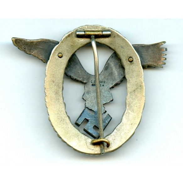"Luftwaffe pilot badge by C.E. Juncker ""J2"""