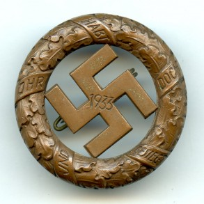 1933 remeberance badge for 9. November 1923, München by Deschler & Sohn