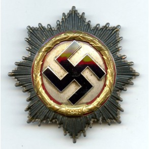 "German Cross in Gold by Deschler & Sohn, heavy ""1"""