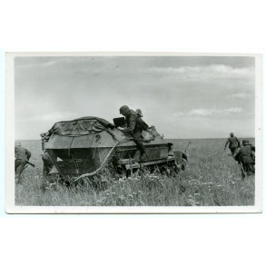 Period postcard Sdkfz in action