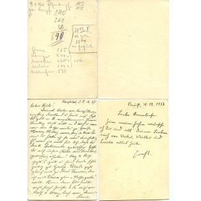 Lot of 4 period postcards