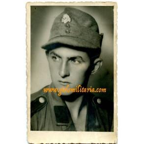 SS portrait M43 cap, SS shirt, Belgrade 1943