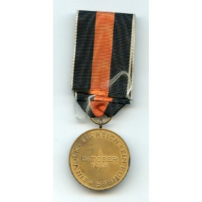 1938 Czech annexation medal