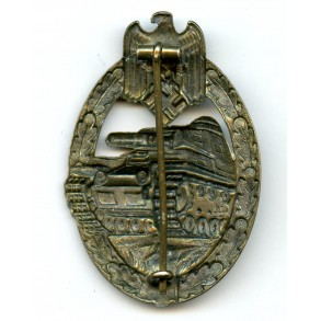 Panzer assault badge in bronze by F.A. Assmann & Söhne