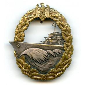 Kriegsmarine destroyer badge by O. Schickle
