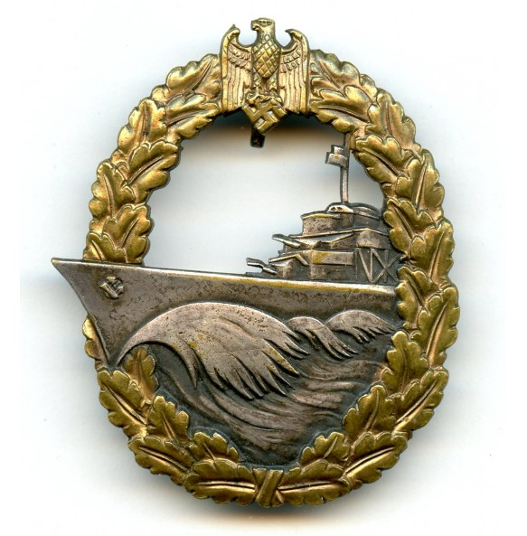 Kriegsmarine destroyer badge by O. Schickle