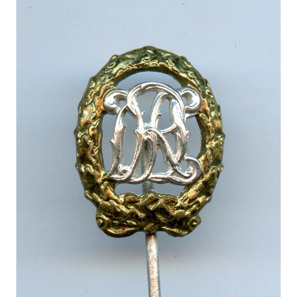 DRL sport badge for war wounded 16mm miniature by Wernstein