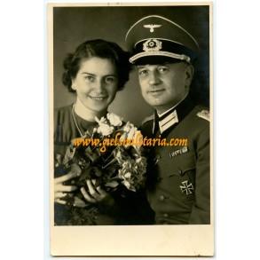 Portrait officer an wife in Vienna, 1942