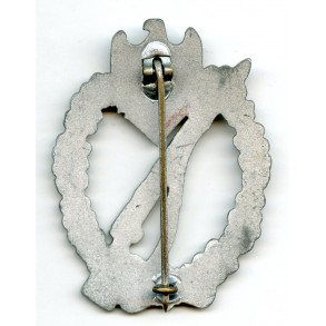 "Infantry assault badge in silver by W. Deumer ""vertical crimp"""