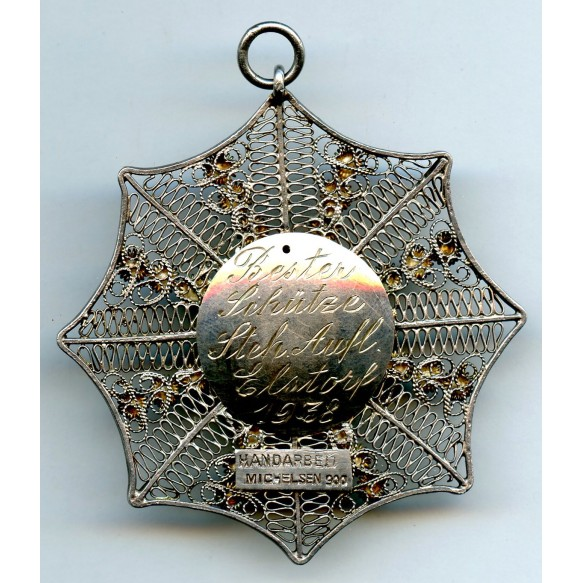 """""""900"""" silver necklace hanger, private make by Michelsen"""