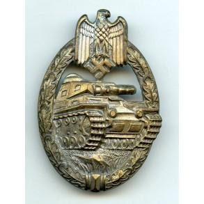 Panzer assault badge in silver by F.A. Assmann & Söhne, CUPAL