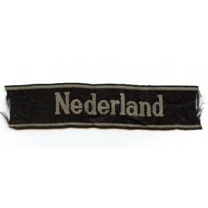 """SS cufftitle Dutch volunteers """"Nederland"""" by Bevo"""