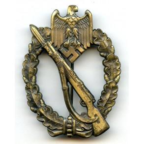 Infantry assault badge in bronze by W. Deumer