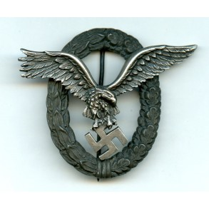 "Luftwaffe pilot badge by C.E. Juncker ""J4"""