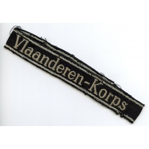 "SS cuff title ""Vlaanderen-Korps"""