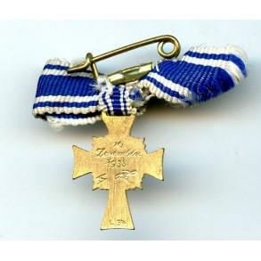"Mother Cross in Gold miniature by Schauerte & Hohfeld ""L/54"""