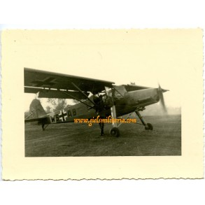 Private snapshot Storch airplane in Russia