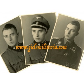 3 SS panzer officer portraits