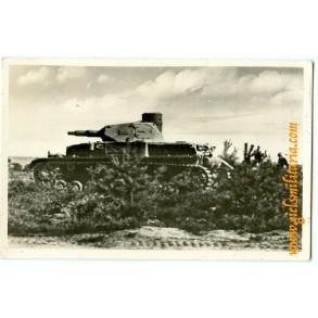 Period panzer postcard Panzer III