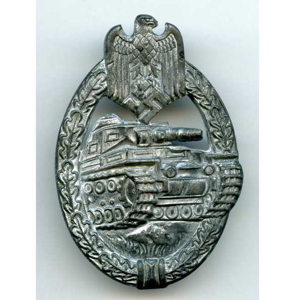 """Panzer assault badge in silver """"Rocky"""" variant"""